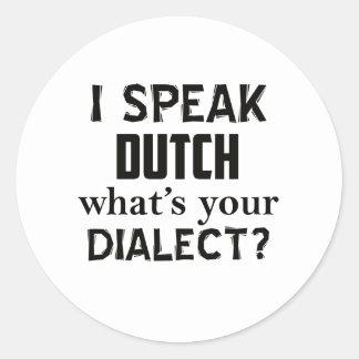 Design holandês do dialecto adesivo redondo