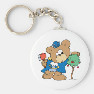design honesto do urso de ursinho do dia dos presi chaveiro