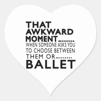 Design inábil desse balé do momento adesivos em forma de corações