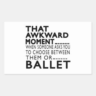 Design inábil desse balé do momento adesivos retangular