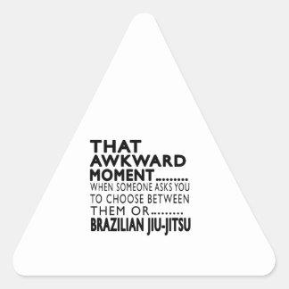 Design inábil desse Jiu-Jitsu do brasileiro do Adesivo Triângulo