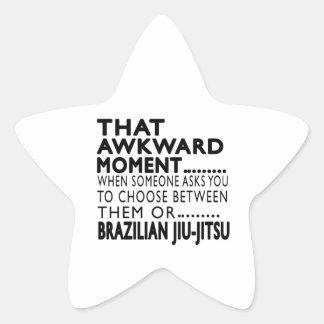 Design inábil desse Jiu-Jitsu do brasileiro do Adesivos Estrelas