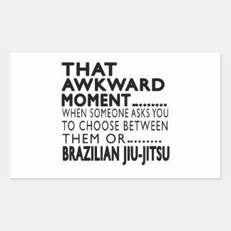 Design inábil desse Jiu-Jitsu do brasileiro do Adesivos Em Formato Retangulares