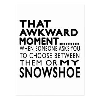 Design inábil desse sapato de neve do momento cartoes postais