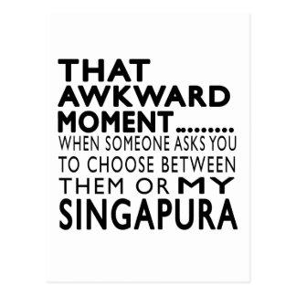 Design inábil desse Singapura do momento Cartoes Postais
