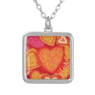 design indiano brilhante do coração colar