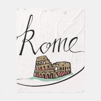 Design indicado por letras da mão de Roma Cobertor De Velo