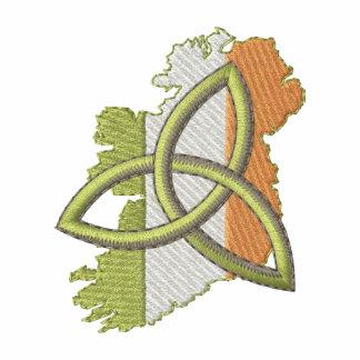 Design irlandês camiseta bordada polo