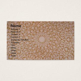 Design islâmico do otomano intrincado. Motivo do Cartão De Visitas