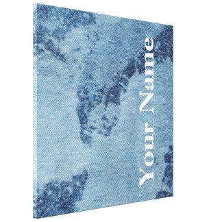Design lavado #1 da sarja de Nimes em Emporio Impressão Em Tela