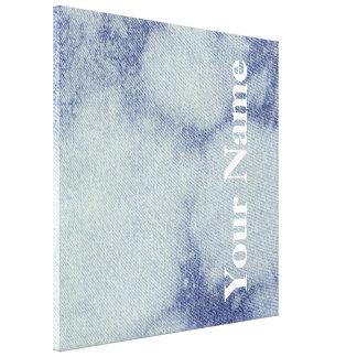Design lavado 1 da sarja de Nimes em Emporio Moff Impressão De Canvas Esticada