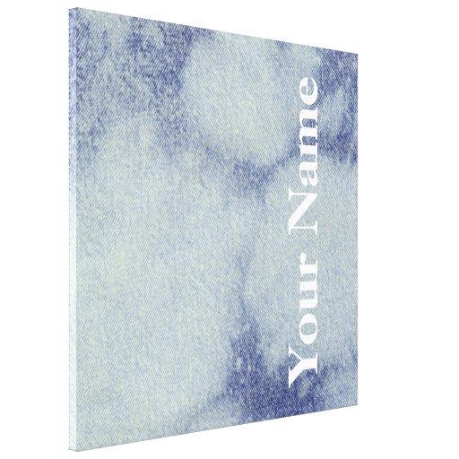 Design lavado #1 da sarja de Nimes em Emporio Moff Impressão De Canvas Esticada