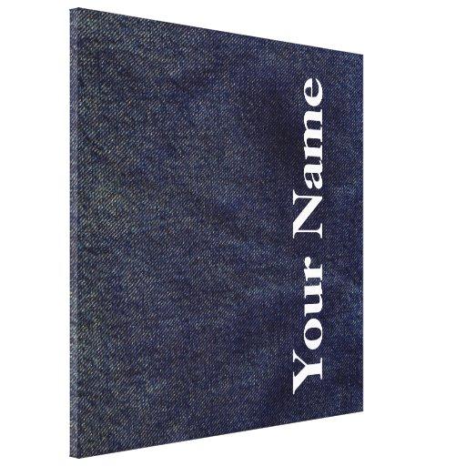 Design lavado #7 da sarja de Nimes em Emporio Moff Impressão De Canvas Envolvidas