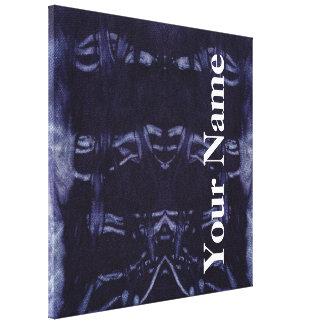 Design lavado 8 da sarja de Nimes em Emporio Moff Impressão De Canvas Envolvidas