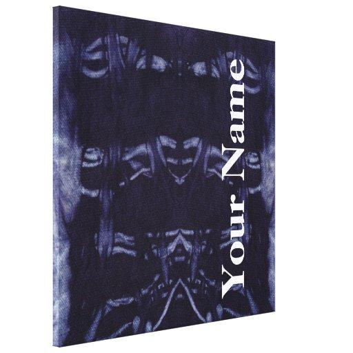 Design lavado #8 da sarja de Nimes em Emporio Moff Impressão De Canvas Envolvidas