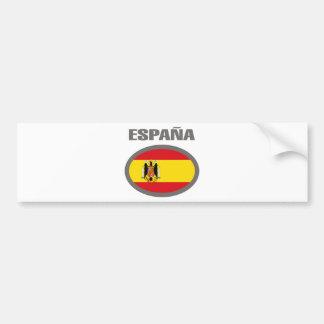 Design legal da bandeira da espanha! adesivo para carro