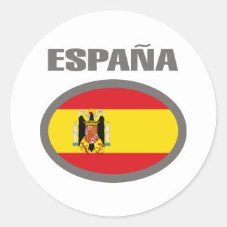 Design legal da bandeira da espanha! adesivo em formato redondo
