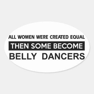Design legal da dança de barriga adesivo oval