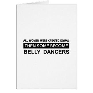 Design legal da dança de barriga cartão comemorativo