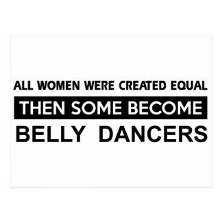 Design legal da dança de barriga cartão postal