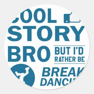 Design legal da dança de ruptura adesivo redondo