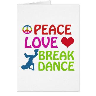 Design legal da dança de ruptura cartão comemorativo