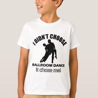 Design legal da dança de salão de baile camiseta