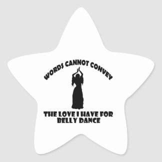 Design legal da dança do ventre adesito estrela
