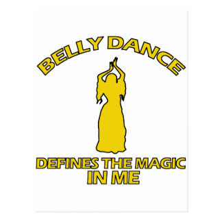 design legal da dança do ventre cartão postal