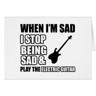Design legal da guitarra elétrica cartões