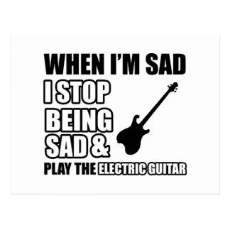 Design legal da guitarra elétrica cartoes postais