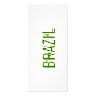 Design legal de Brasil! 10.16 X 22.86cm Panfleto