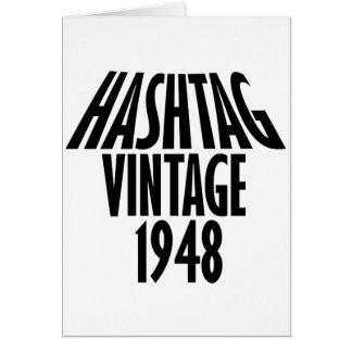 design legal do vintage 1948 cartão comemorativo
