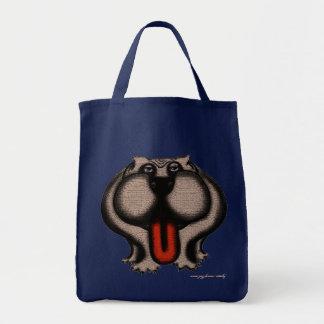 Design legal engraçado do saco do buldogue bolsas para compras