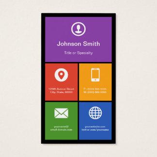 Design liso do estilo do metro - azulejos modernos cartão de visitas