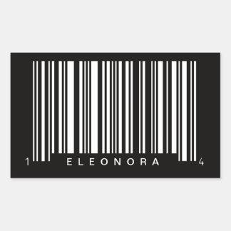 design listrado código de barras personalizado adesivo retangular