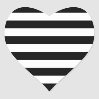 Design listrado   preto e branco da listra adesivo coração