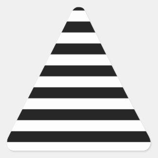 Design listrado   preto e branco da listra adesivo triangular