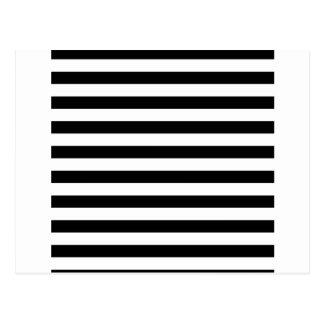 Design listrado   preto e branco da listra cartão postal