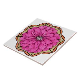 Design MAGENTA da POINSÉTIA Azulejos De Cerâmica