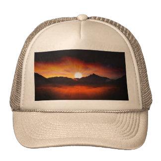 Design maravilhoso do por do sol boné