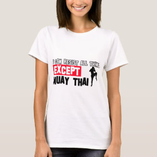 design marcial tailandês muay camiseta
