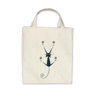 design mau do gato bolsas de lona