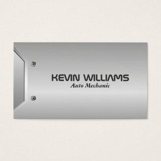 Design metálico cinzento geométrico moderno da cartão de visitas