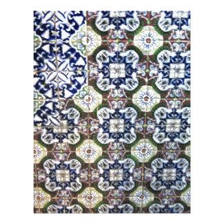 Design mexicano do azulejo papel timbrado