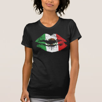 Design mexicano do tshirt dos lábios para mulheres