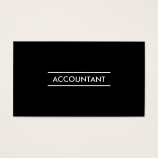Design mínimo do contador cartão de visitas