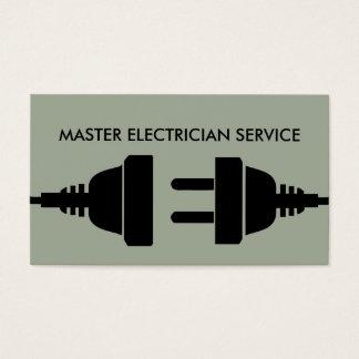 Design moderno corajoso do eletricista cartão de visitas