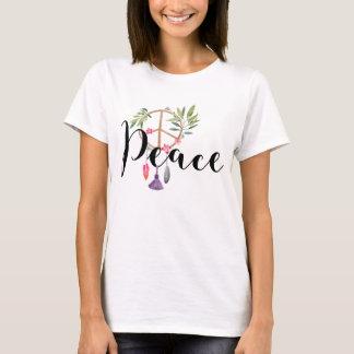 Design moderno da paz do estilo de Boho Camiseta