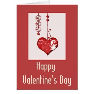 Design moderno do coração cartão de 2 felizes dias